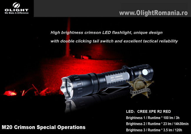 Lanterna Olight M20S-C RED